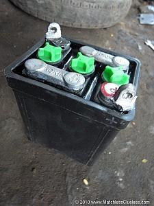 My original Indian wet lead-acid battery