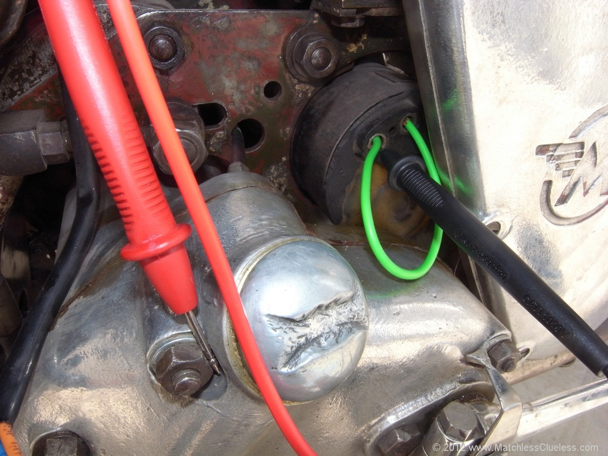 general lucas system checks on classic motorbikes bull matchless clueless multimeter connections