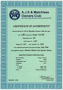 Dating certificate