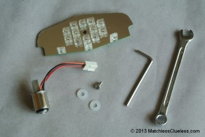 Contents of the LED light board kit