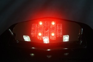 Tail light and number plate illumination LEDs