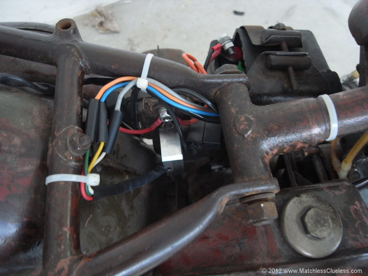How To Replace A Lucas Regulator Unit With Dvr2 Matchless Clueless Podtronics Rectifier Wiring Diagram The New Installed