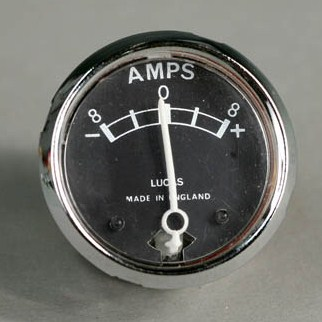 motorcycle ammeter wiring how to replace the ammeter on a classic motorbike ... ammeter wiring diagram omc 172995