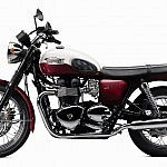 Triumph Bonneville T100 with stock tail light