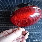 Tightening the rear light lens
