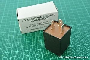 LED indicator flasher relay