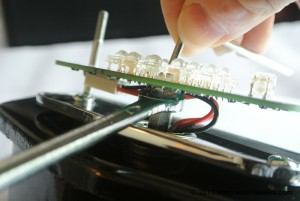 Tightening the LED board mounting